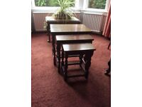 Small furniture. - nest of 3 tables - downsizeing