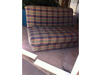 Sofa bed double metal action