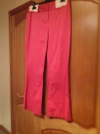Next Ladies Pink trouser , jacket and bodice suit Size 12/14