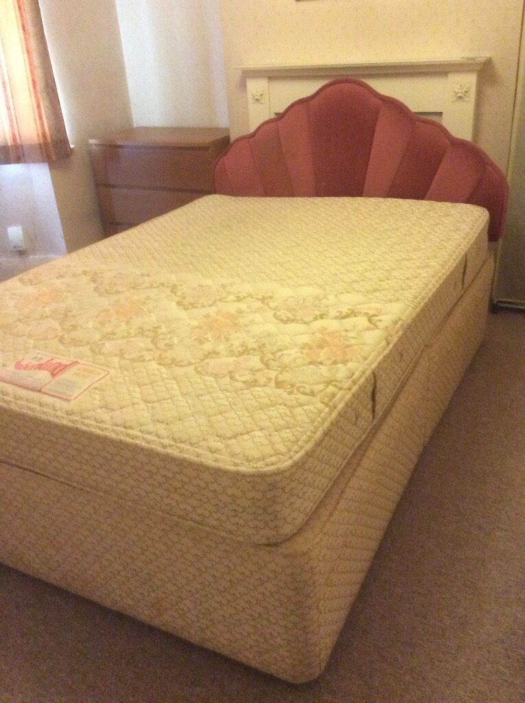 Cheap slumberland double divan bed for sale in selly oak for Cheap divans with drawers