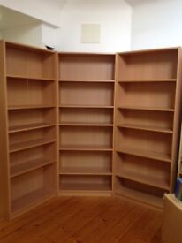 Three Mid Brown Bookcases £20 each