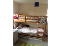 Good quality pine bunk bed