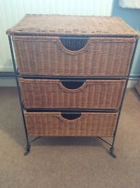 Set of 3 woven drawers