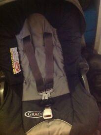 Graco black pram/ pushchair/ Car seat