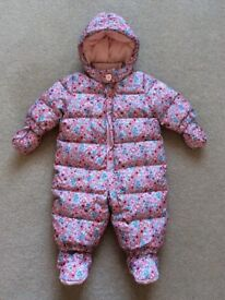 Floral baby girl snowsuit from Baby Gap age 3-6 months