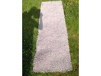 Natural/beige shaggy runner rug pet and smoke free home