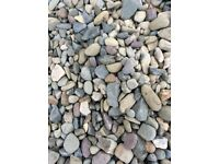 20 mm riverbed garden and driveway chips/ stones/ gravel