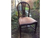 4'Shapes' dark wood reproduction dining chairs