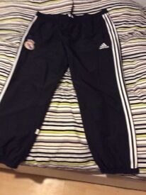 New Real Madrid pants ,black and white size 50/54, 75%.off