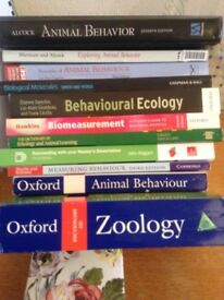 Bishop Burton College text books and kennel coat. £40 and £15 respectively