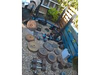 cast iron weights plates, big selection,dumbbells, barbells