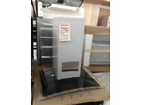 60cm glass and stainles steel cooker hood. £100 new/graded 12 month Gtee