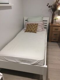 Solid wood bed frame and luxury mattress from M&S £150