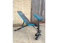 Men's Health Adjustable Utility Bench with Preacher Curl Attachment (Delivery Available)