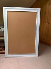 2 x white frames - size 74cm x 105cm - wedding items