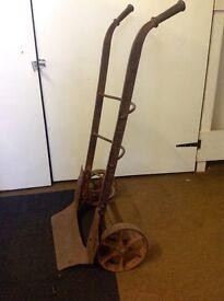 Antique cast iron sack barrow