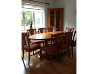 G Plan Dining Room Table with 8 Chairs and Matching Corner Unit