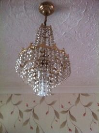 CRYSTAL CHANDALIER (2 available)