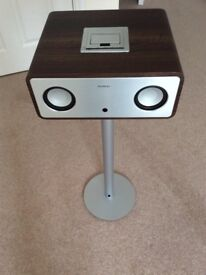 iPod player on stand