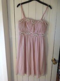 Quiz pale pink dress, size 12