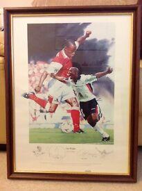 Ian Wright framed print by Gary Keane