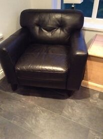 Black leather chair(s) WOW reduced for quick sale