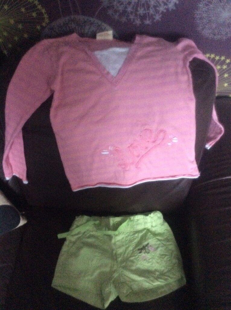 Girls shorts & t shirt age 5-6