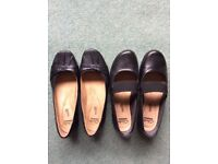 Clarks flat black shoes size 5.5 and 5