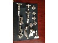 Solid Stainless Steel handles plus various hinges