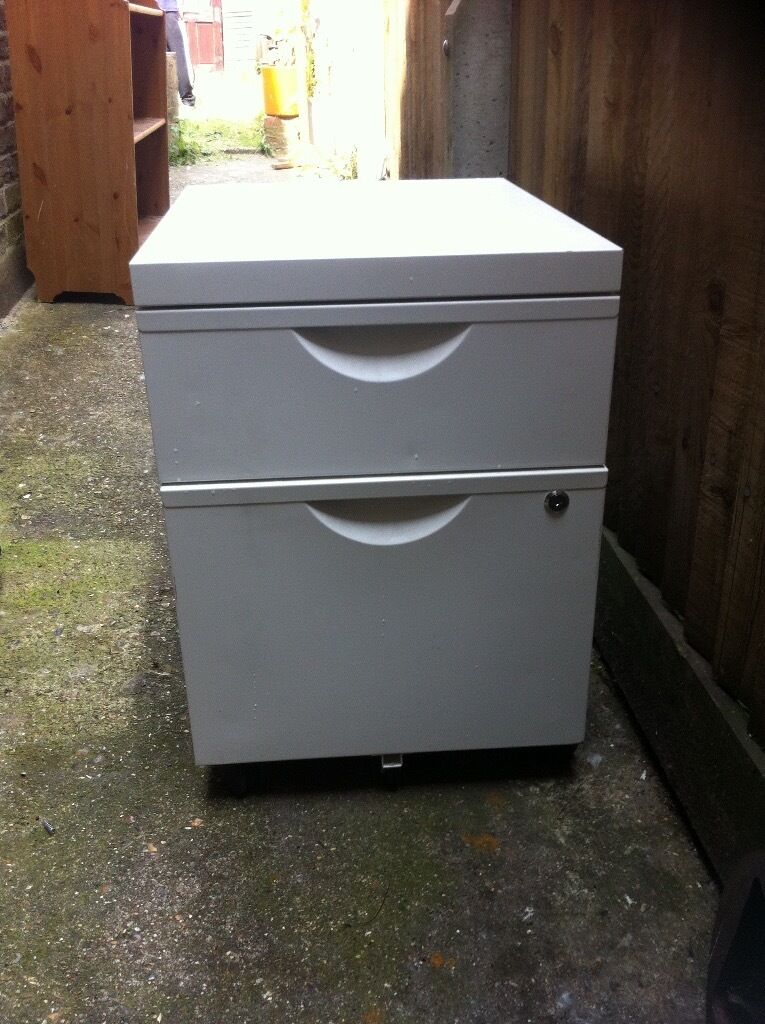 white office filing cabinet for sale in croydon london gumtree. Black Bedroom Furniture Sets. Home Design Ideas