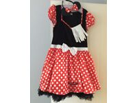 Smiffys new Minnie Mouse dress gloves and headband fancy dress outfit worn once