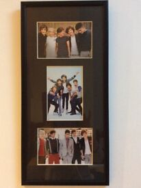 Framed photo of 1D (1 Direction) original band members