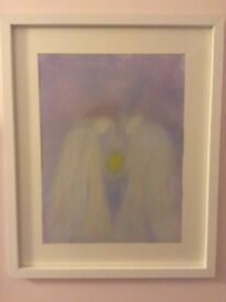 Framed Watercolour ~ Healing ~ Painted by Glastonbury Artist (Under hypnosis)