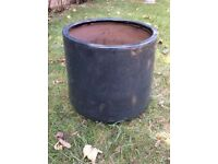 Large Grey Glaze Garden Plants Pot