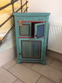 Beautifully restored cabinet , ideal for light storage with shelves and a top drawer