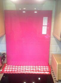 New Kitchen Glass Splashback - Pink Glitter