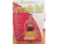 Gymnastic Ball with pump.used but ok
