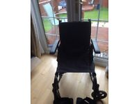 Invacare action 3 ng transit wheelchair with free flo-tech cushion