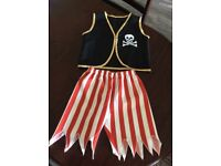 CHILDS FANCY DRESS PIRATE COSTUME AGE 3 - 6 YRS