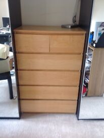 Malm Ikea chester drawers
