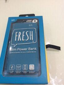 Slim Power bank (12,000 mah) ( kit brand) from carphone warehouse