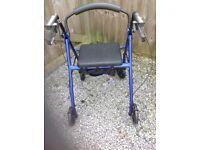 Lightweight 4 wheeled walker