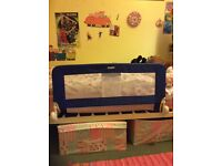 Tomy navy blue bedside fits single bed/cot bed. Very good condition