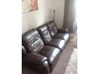 3 seater double reclining sofa