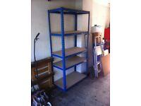 4 shelf racking with wooden shelves 90cm x 178cm x 44cm