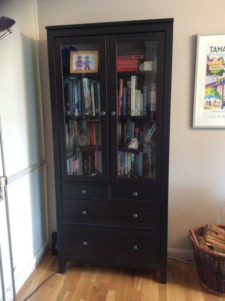 Tall Ikea Hemnes Glass Door Cabinet With Drawers In Liskeard
