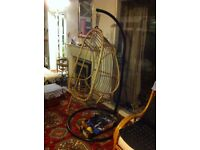 Large Swing Pod Chair (Bamboo) - Free Standing Steel Stand