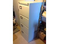 Four Office 4 Drawer metal filing cabinets