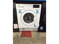 Beko prosmart intergrated washing machine. 7kg 12 month Gtee