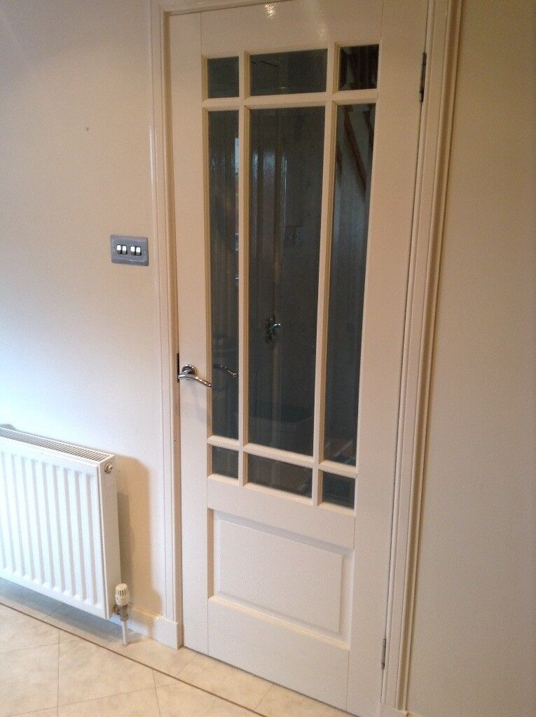 3 X Wooden Doors With Glass Panels In Larbert Falkirk Gumtree